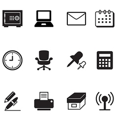 Office tools and stationery icons set vector