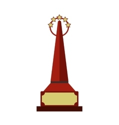 Red goblet flat icon vector