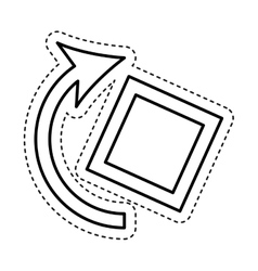 Rotate screen option icon vector