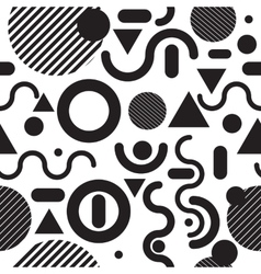 Seamless pattern fashion black and white vector