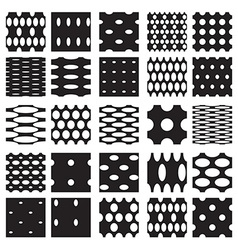 Set of elegant dot patterns vector image