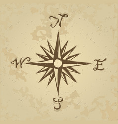 sketch sign wind rose vector image vector image