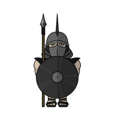 spartan warrior stylized warrior vector image