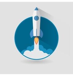 Start Up Concept Roket Ship Flat Design vector image vector image