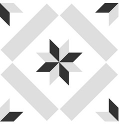 Tile grey black and white decorative floor tiles vector