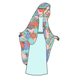 Virgin-mary-colorful vector