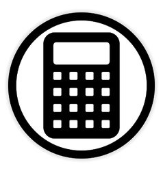 Calculator button on white vector image