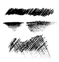 Pencil black brush texture style vector