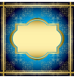 blue and gold vintage card vector image