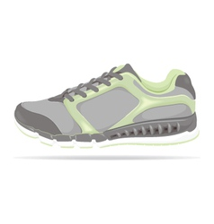 Detailed running shoe vector