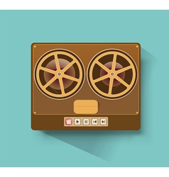 Retro recorder vector