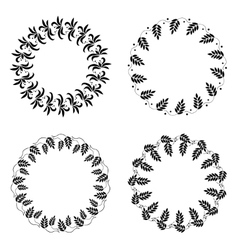 Laurel wreath tattoo set wheat ornament black vector