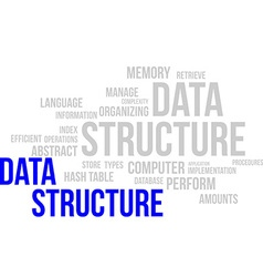 Word cloud data structure vector