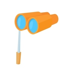 Theatrical binocular icon cartoon style vector