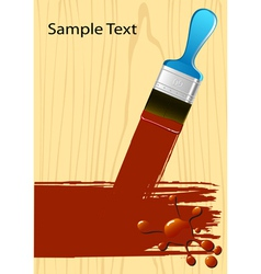Brush flejts vector image