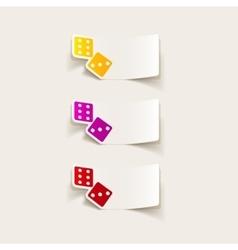 Realistic design element dice vector