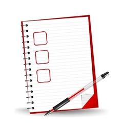 a checklist vector image vector image
