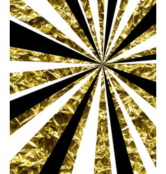 Abstract background with golden rays vector