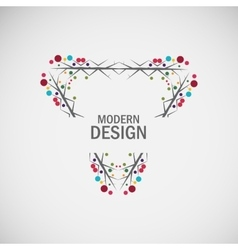 Abstract floral frame design vector image vector image