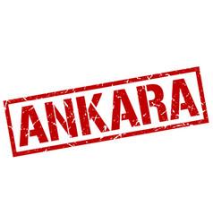 Ankara red square stamp vector