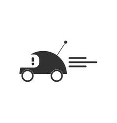 Black icon on white background remote control car vector