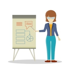 Business woman making a presentation vector