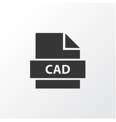 Cad icon symbol premium quality isolated design vector