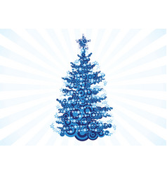 christmas tree over white vector image