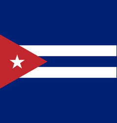 Colored flag of cuba vector