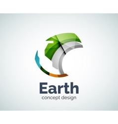 Earth logo template vector image vector image