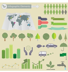 Ecological infographics vector
