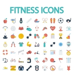 Fitness flat icons with long shadow for your vector image vector image