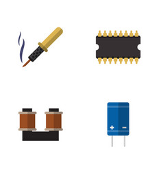 Flat appliance set of repair transistor coil vector