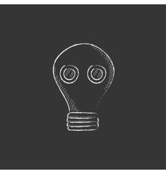Gas mask Drawn in chalk icon vector image vector image