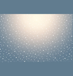 geometric graphic background with connected lines vector image vector image