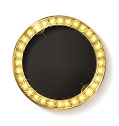 Gold round frame cinema on a white background vector