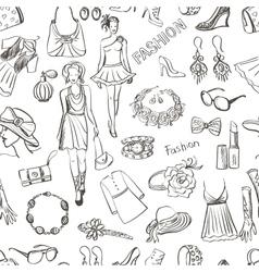 Hand drawn Fashion pattern vector image vector image