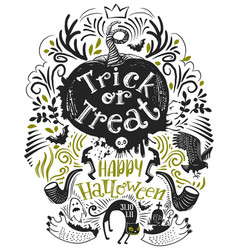 hand drawn halloween lettering vector image vector image