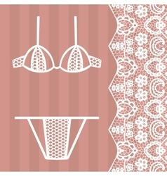 Hand drawn lingerie Panty and bra set vector image vector image