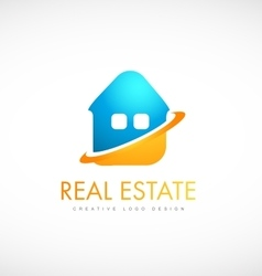 House real estate logo icon design vector