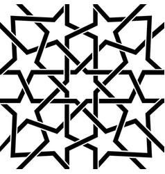moroccan tile black and white design moorish seam vector image vector image