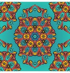 ornate symmetry seamless oriental pattern vector image