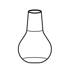 outline laboratory flask icon schools supplies vector image