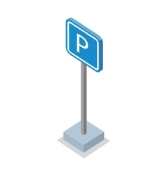 Parking Place Road Sign vector image