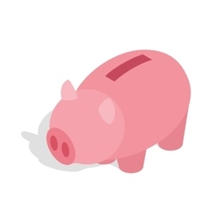 Piggy bank icon isometric 3d style vector image vector image