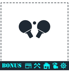 Ping pong icon flat vector image