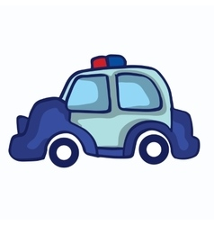 Police car collection stock vector image vector image