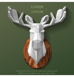 poly elk head vector image