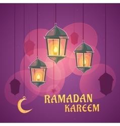 Ramadan lanterns vector