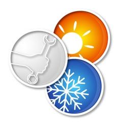 Repair air conditioner symbol vector